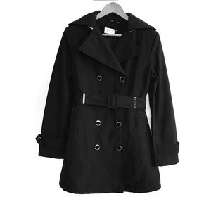 Calvin Klein Black Double Breasted Trenchcoat